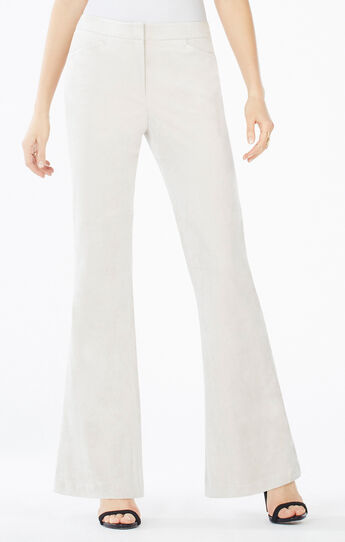 Steph Faux-Suede Flared Pant