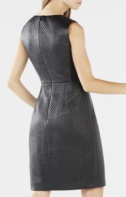 Livie Quilted Faux-Leather Dress