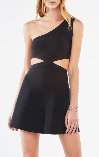 Jacquelln One-Shoulder Cutout Dress