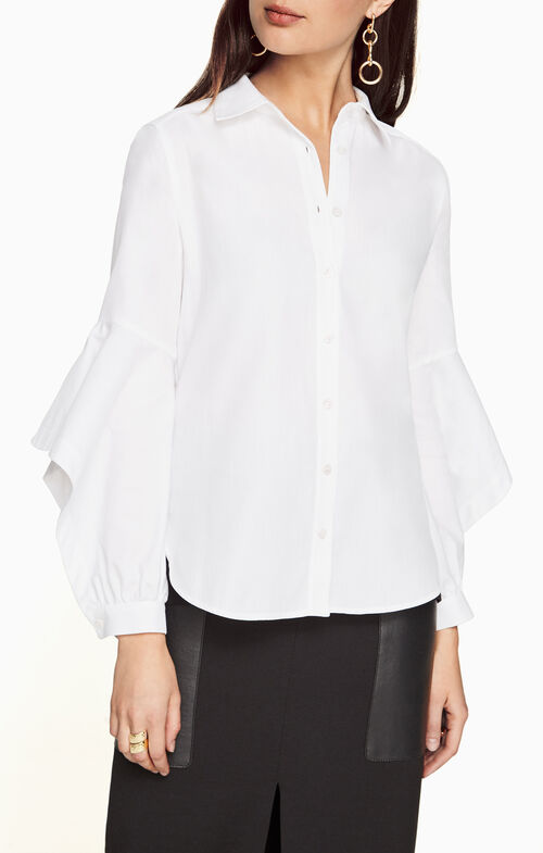 Thelma Ruffled-Sleeve Shirt