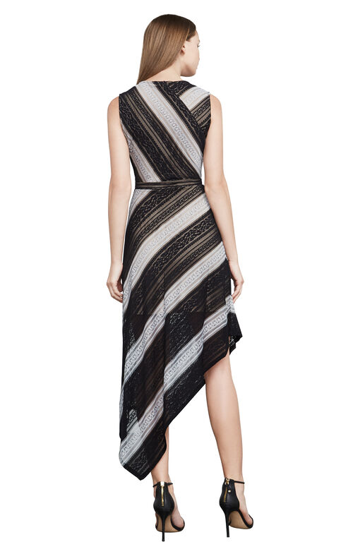 Tracie Striped Lace Dress