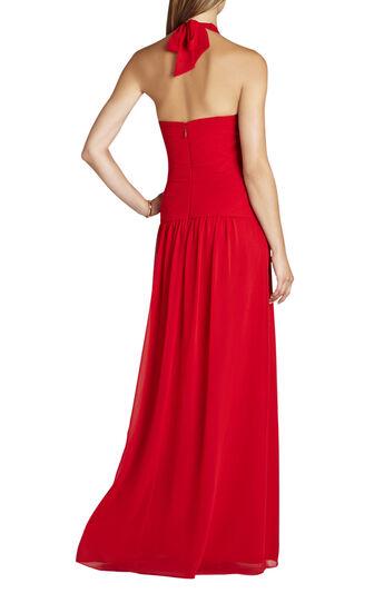 Selene Halter-Neck Ruched Gown