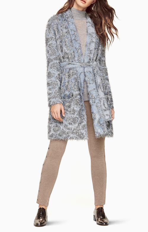 Annia Eyelash-Fringe Coat