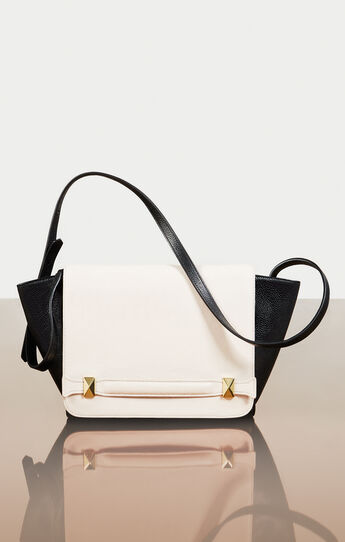Agatha Color-Blocked Leather Satchel