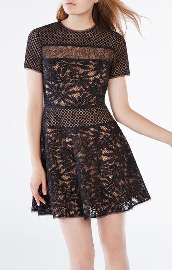 Eleanor Lace-Blocked Dress