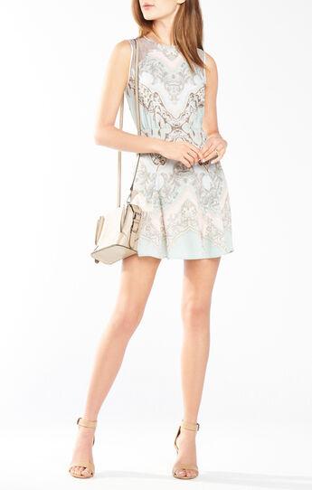 Gwyneth Lace-Blocked Dress