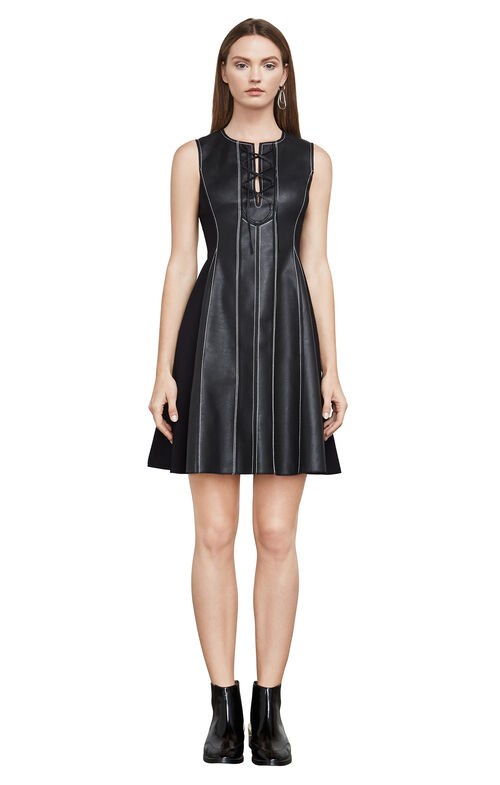 Jolee Sleeveless Faux-Leather Dress