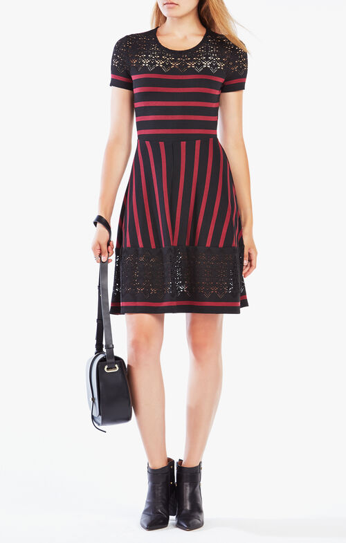 Bryonna Stripe Lace Dress