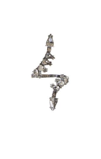 Open-Front Teardrop Stone Ring