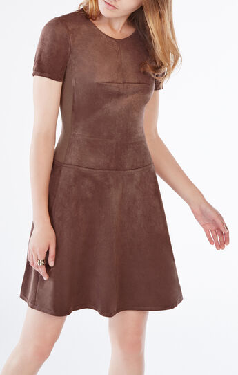 Darra Suede A-Line Dress
