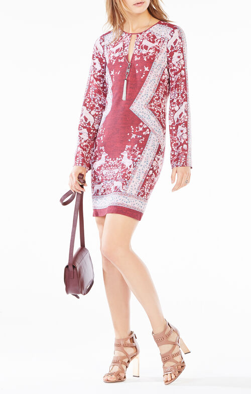 Freya Scarf Print Dress