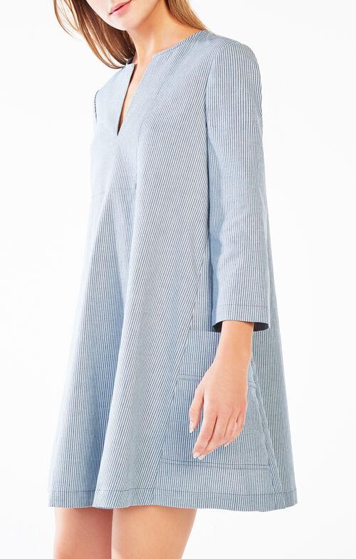 Trysta Striped Twill Dress