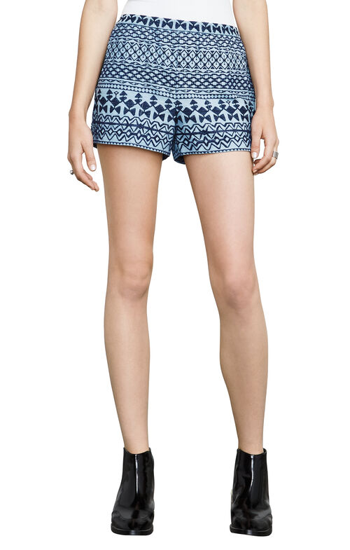 Isaac Embroidered Chambray Shorts