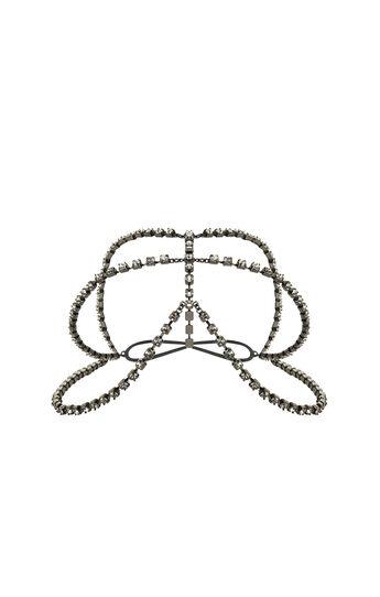 Tri-Chain Rhinestone Headpiece