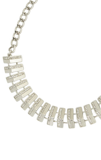 Pave Track Necklace