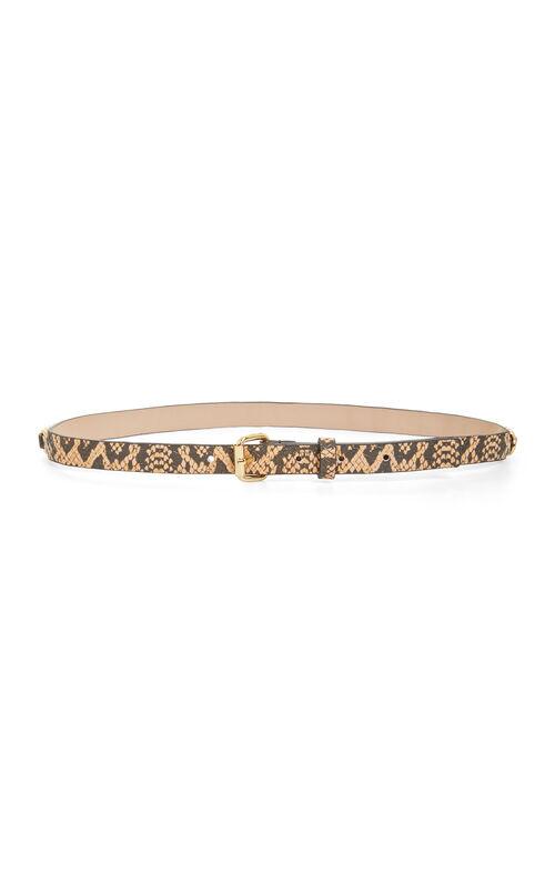 Snake Print Waist Belt
