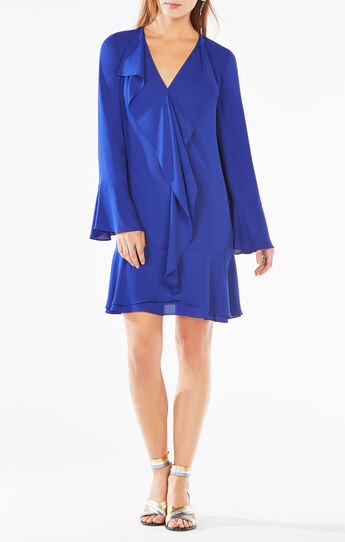 Debra Ruffled-Trim Dress