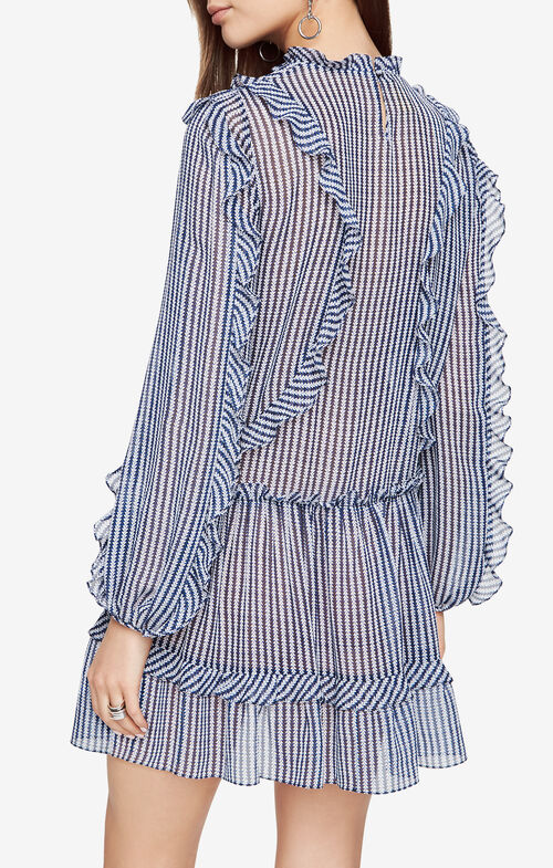 Rosemarie Ruffled Striped Dress
