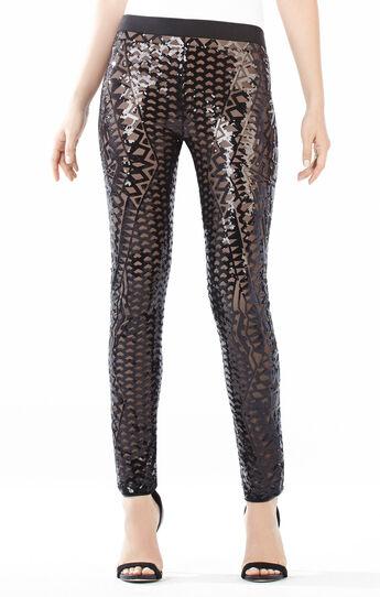 Dena Mosaic Tile Sequined Leggings