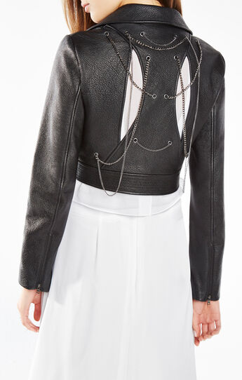 Syd Chain-Embellished Leather Jacket