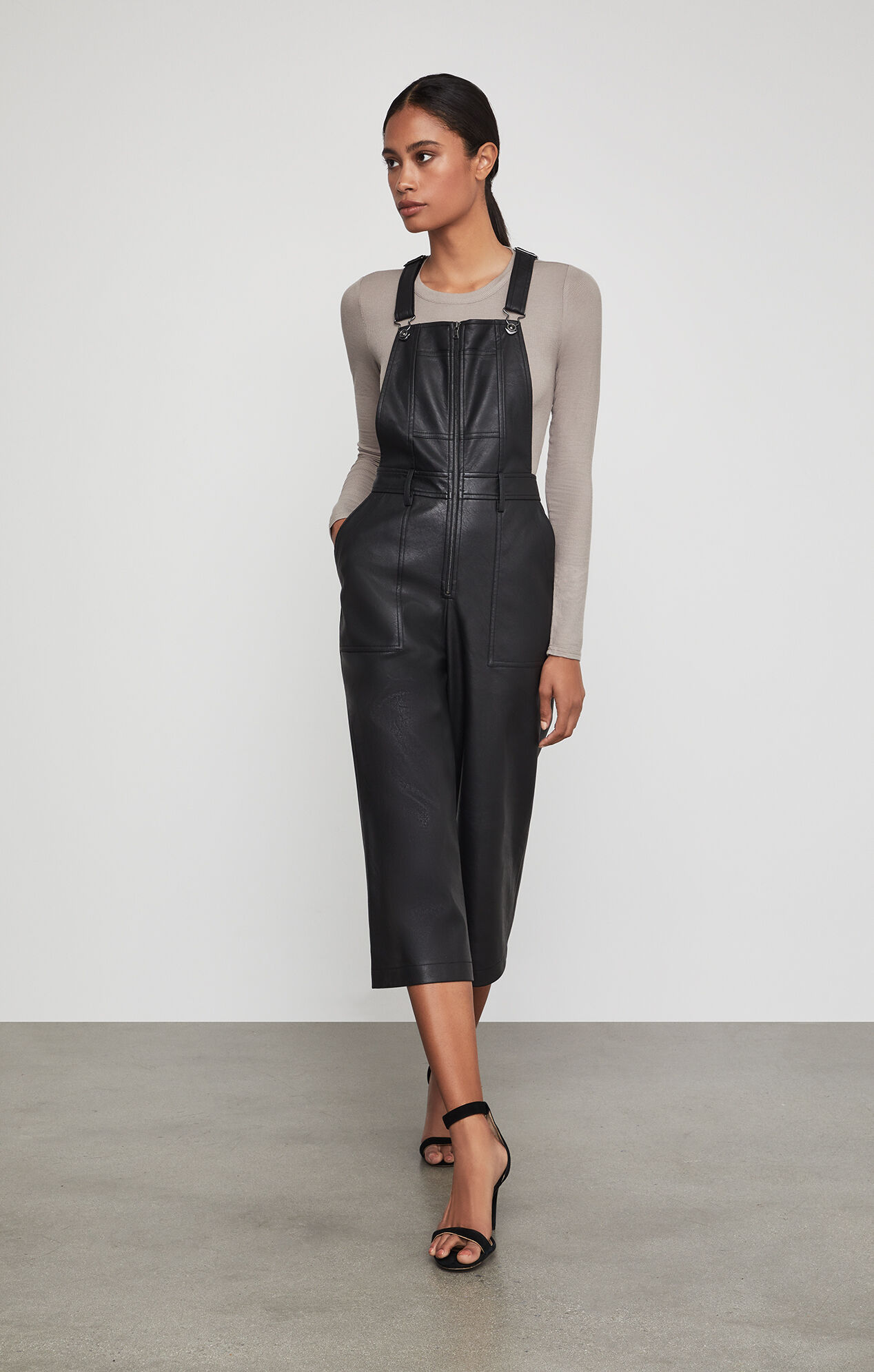 Overalls Are Making A Comeback As The Latest Fashion Trend: Jamee Faux-Leather Overalls