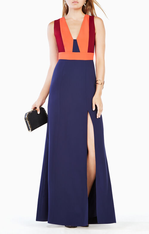 Natalli Color-Blocked Gown