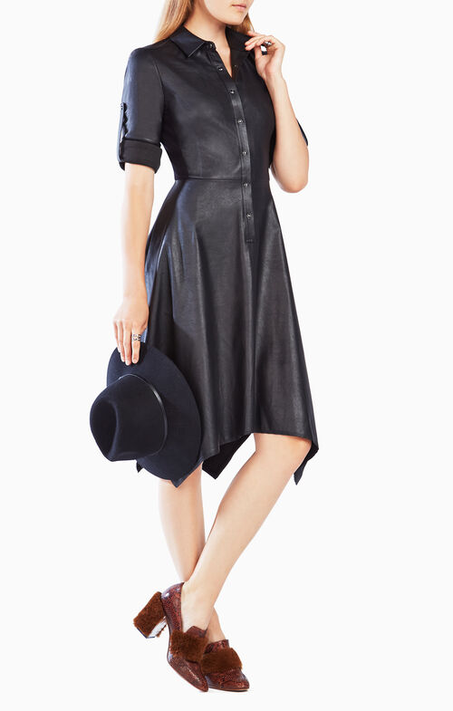 Beatryce Faux-Leather Dress