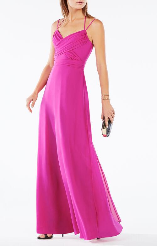 Rosabelle Open-Back Silk Gown