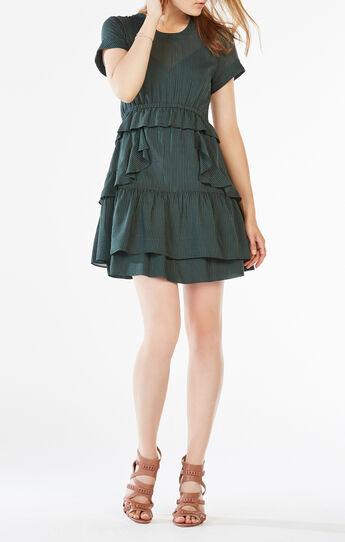 Inez Ruffled Chiffon Dress