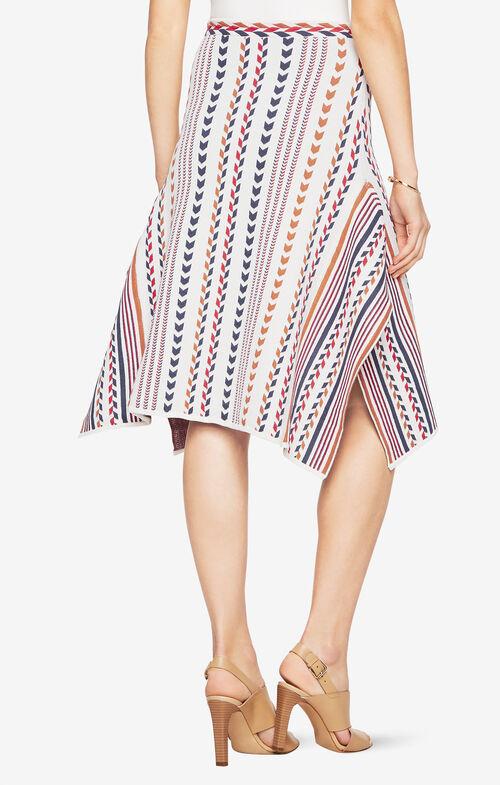 Dominik Chevron-Jacquard Skirt