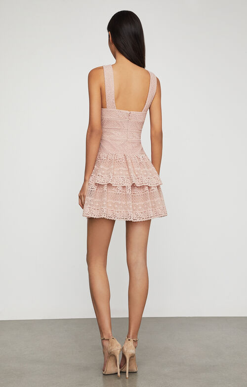 Alissa Ruffled Lace Dress