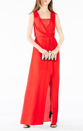 Koko Lace-Trim Blouson Gown