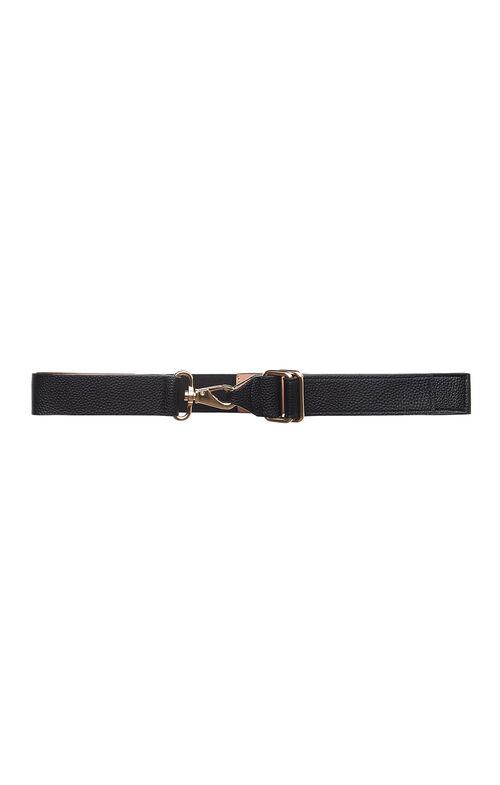 Swivel Clasp Faux-Leather Waist Belt