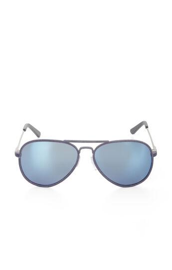 Flocked Aviator Sunglasses