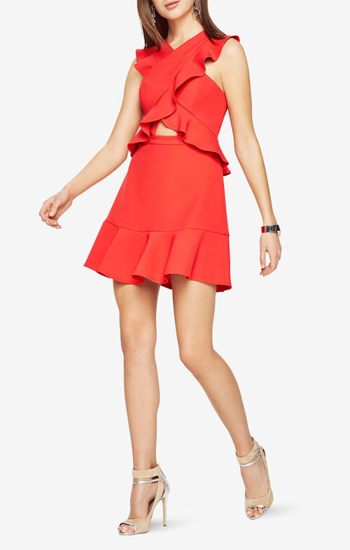 Careen Ruffled Cutout Dress