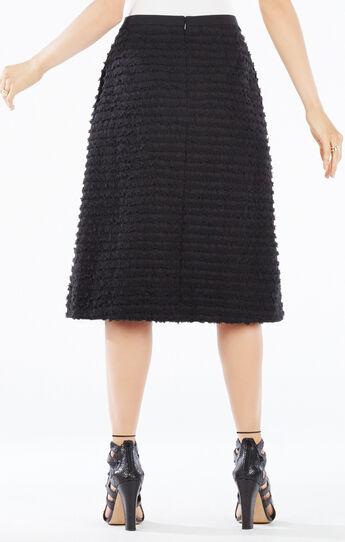 Reggie Striped Fringe A-Line Skirt