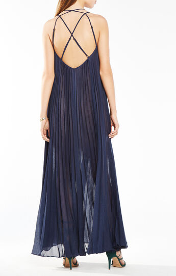 Isadona Pleated Maxi Dress