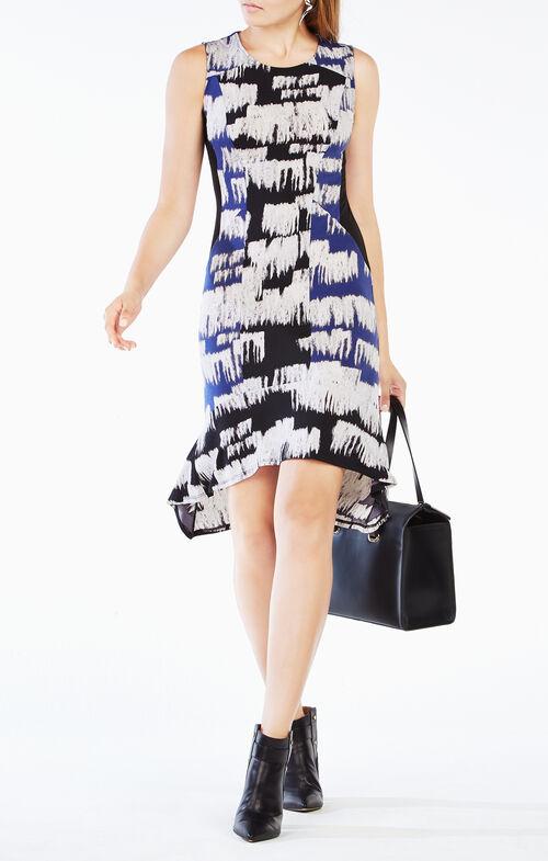 Abagail Printed Jersey Dress