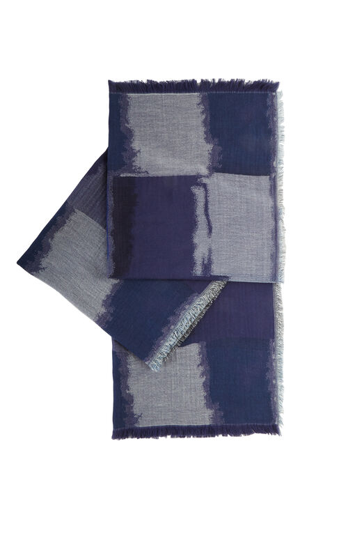 Color-Blocked Wrap Scarf