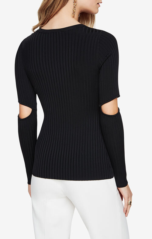 Janele Elbow-Slit Sweater