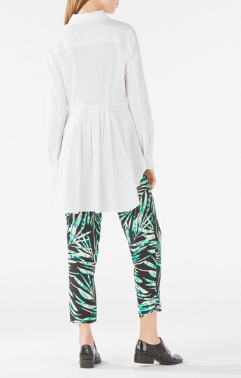 Aylin High-Low Button-Down Top