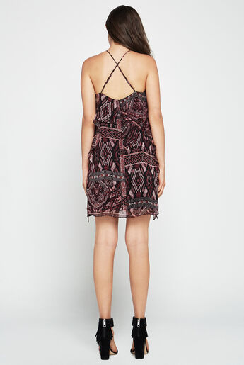Ikat-Print Halter Dress