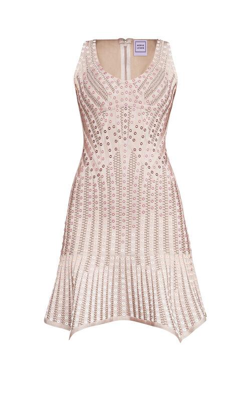 Amee Ombre Grommet Flute Dress