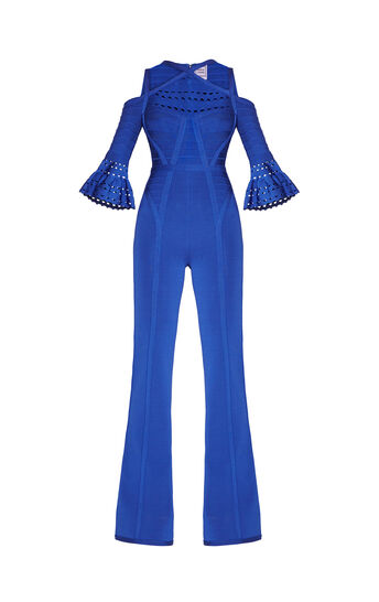 Cayleigh Flared-Sleeve Cutout Jumpsuit