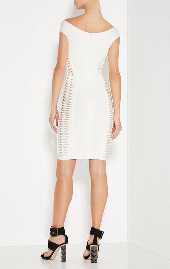Alyson Metallic Twist Bandage Dress