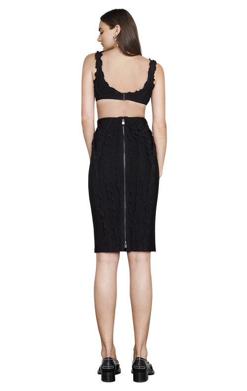 Nakita Ruffled-Trim Cutout Body-Con Dress