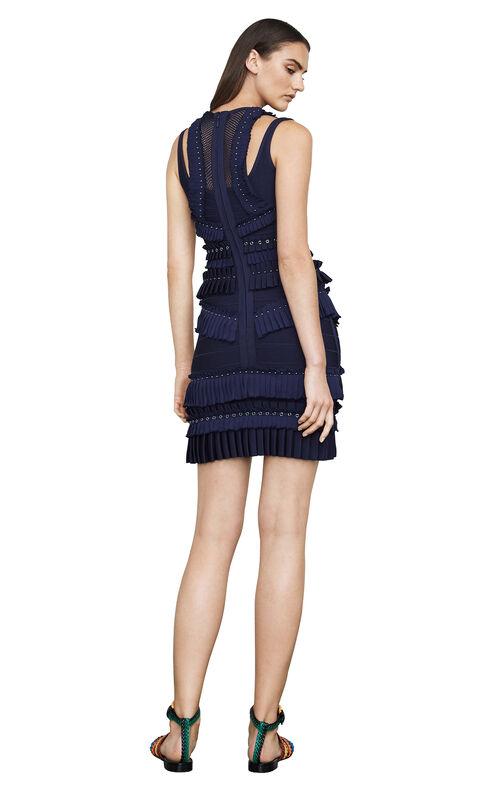 Jette Embellished-Pleat Body-Con Dress
