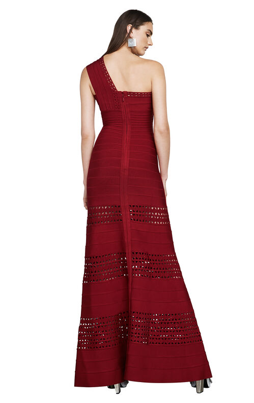 Selene Cutout One-Shoulder Bandage Gown