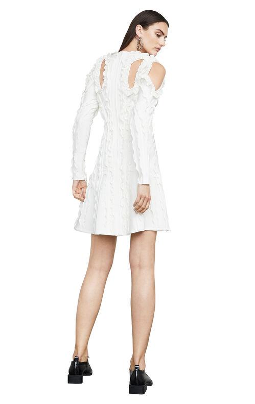 Natalija Ruffled-Trim Cutout Body-Con Dress