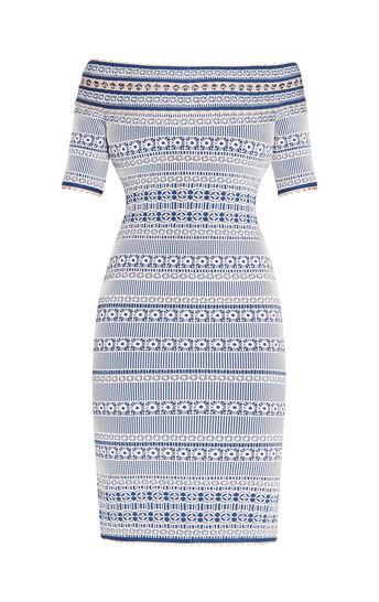 Lacey Plaited Lace Off-Shoulder Dress